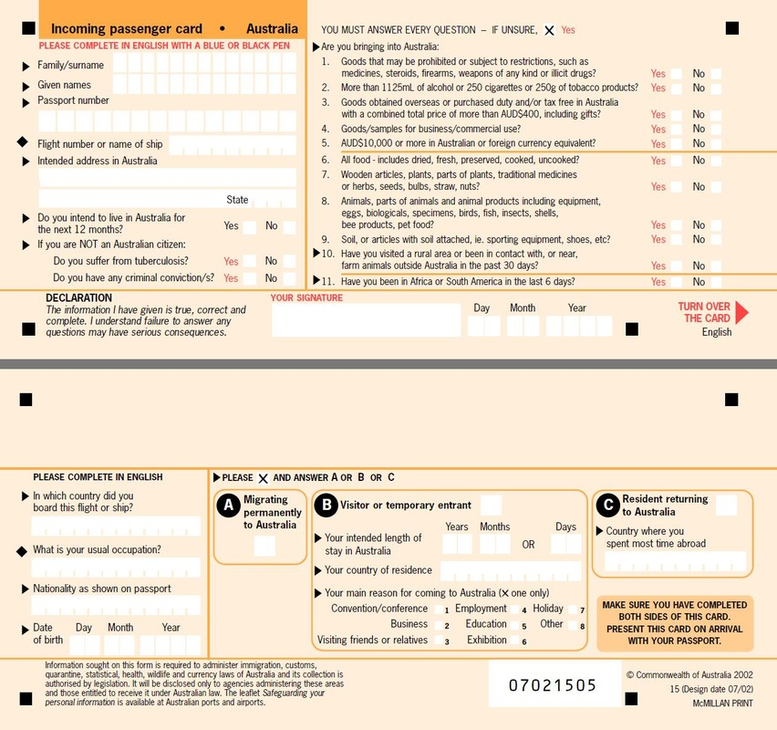 Passenger Name Cards Immigration Experts Australia